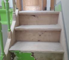 sablage escalier en hêtre laqué